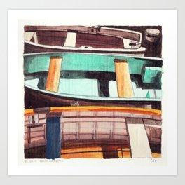 Trois Barques Art Print