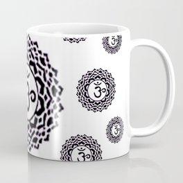 "BLACK SANSKRIT CHAKRAS  PSYCHIC WHEEL ""KNOW"" Coffee Mug"