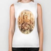 vienna Biker Tanks featuring Karlskirche, Vienna, Austria by Vargamari