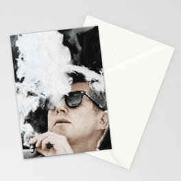 JFK Cigar and Sunglasses Cool President Photo Photo paper poster Color Stationery Cards