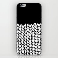 knit iPhone & iPod Skins featuring Half Knit by Project M