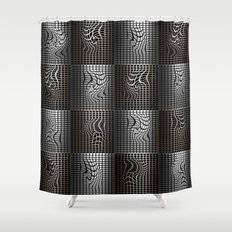 Grid I Shower Curtain