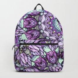 watercolor lily mandala Backpack
