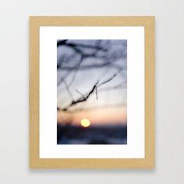 Frozen sunset Framed Art Print
