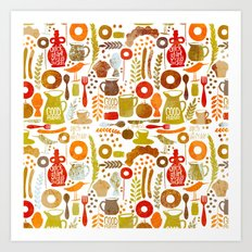 Breakfast in America Art Print