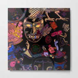 Mexican Mix Metal Print