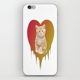 Cat in your heart iPhone Skin