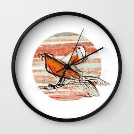 after summer / birds Wall Clock
