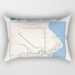 Milwaukee Transit System Map Rectangular Pillow