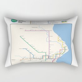 Milwaukee Transit System Map Rectangular Pillow