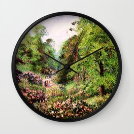 """Camille Pissarro """"Kew Gardens, Alley of Rhododendrons"""" Wall Clock"""