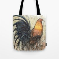 rooster Tote Bags featuring Rooster by Villarreal