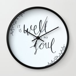It Is Well With My Soul Wall Clock