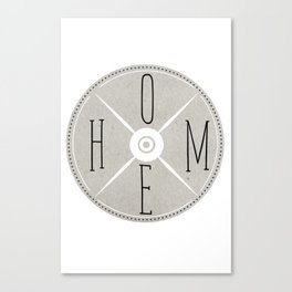 HOME Sign Canvas Print