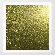 Gold Glitter Sparkle Art Print