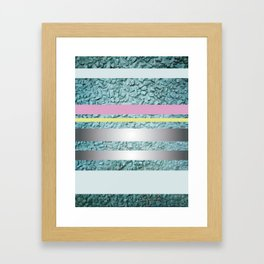 Weird illustration With colourful stripes Framed Art Print