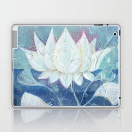 Abstract Lotus Art Acrylic Painting Reproduction by Kimberly Schulz Laptop & iPad Skin