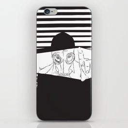 Man in the Mask -Watching your Walls iPhone Skin