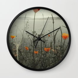 Poppies Shifted Wall Clock
