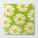 Daisies on a vivid green background - #Society6 #buyart by pivivikstrm