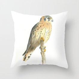american kestrel Throw Pillow