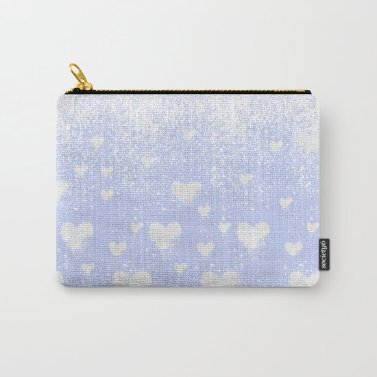 snowing hearts Carry-All Pouch
