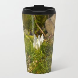 Micro World, Sleep of Little Maiden, flower in moss Travel Mug