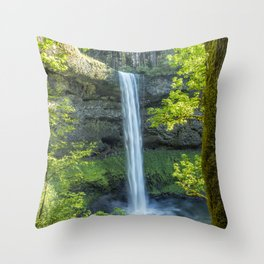 South Falls During Spring Throw Pillow