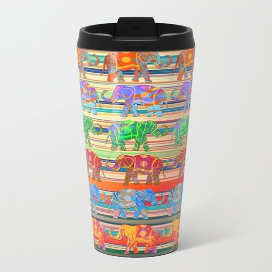 Elephant pattern Metal Travel Mug
