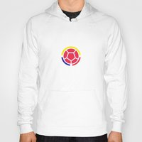 colombia Hoodies featuring Seleccion Colombia by DAN LOZ