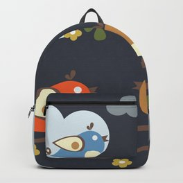 Birds sitting on tree branches Backpack