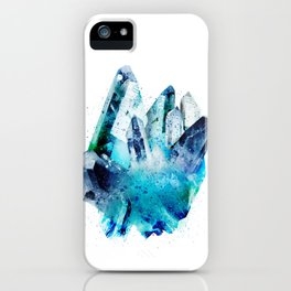 Watercolor Gemstone iPhone Case