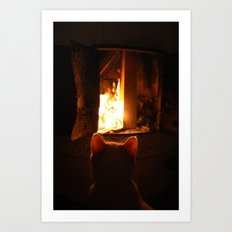 Misan intranced by fire... Art Print