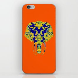 Elephant head damasks thermal color iPhone Skin