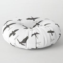 Field Guide for Birding Floor Pillow