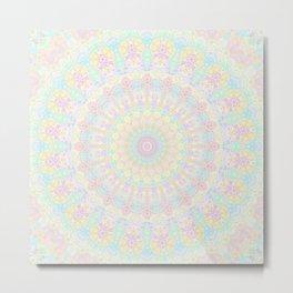 Pastel Rainbow Kaleidoscope 2 Metal Print