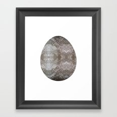 Delicate Lace Egg Framed Art Print