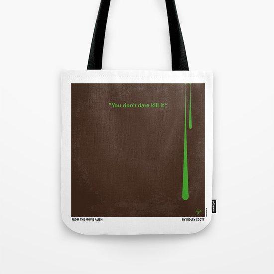 No004 My Alien minimal movie poster Tote Bag