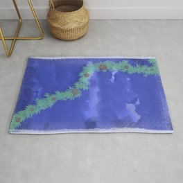 River of Flowers Rug