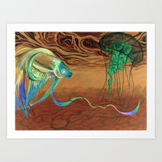 greetings [from the other side] Art Print