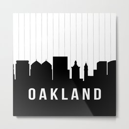 Oakland Skyline Metal Print
