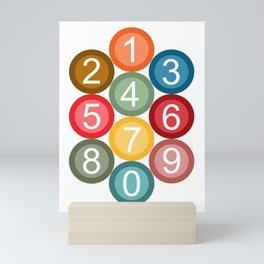 Numbers Mini Art Print