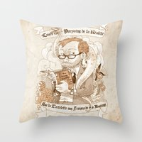 bouletcorp Throw Pillows featuring Autoportrait by Bouletcorp