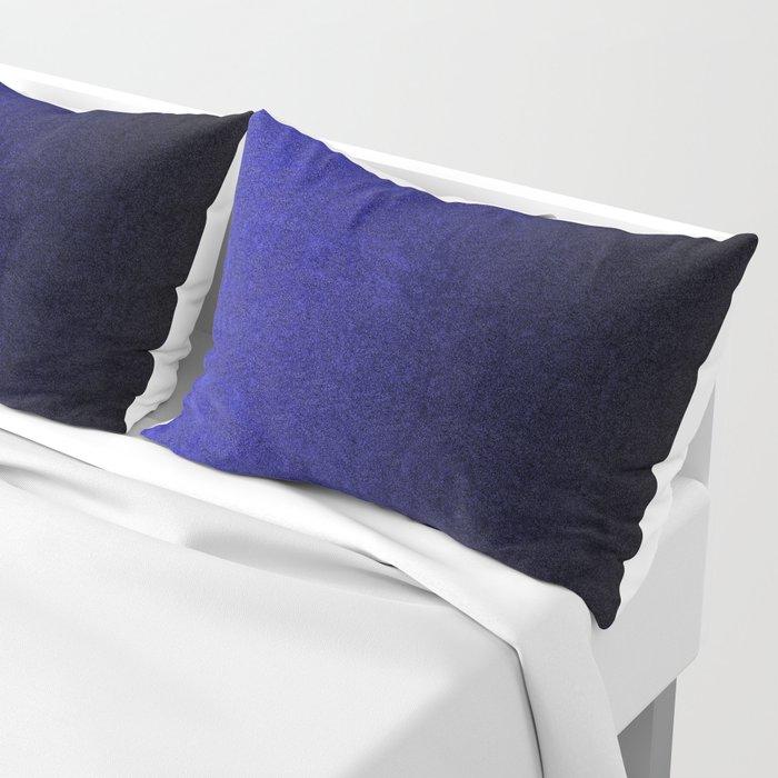 Blue & Black Glitter Gradient Pillow Sham