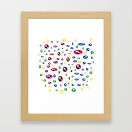 Numerosas flechas de colores apuntando a direcciones Framed Art Print