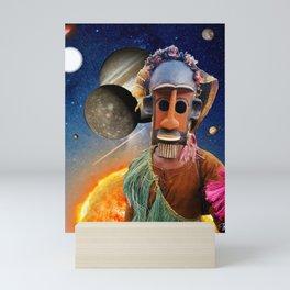 Sirius-ly Dogon - Collage Art - Mali African Sirius Star Constellation Intergalactic Space Mini Art Print
