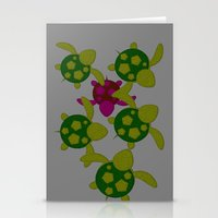 turtles Stationery Cards featuring Turtles  by MillennialBrake