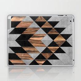 Urban Tribal Pattern No.10 - Aztec - Concrete and Wood Laptop & iPad Skin