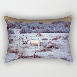 Lone Grazer Rectangular Pillow
