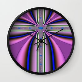 Cross Colour Wall Clock